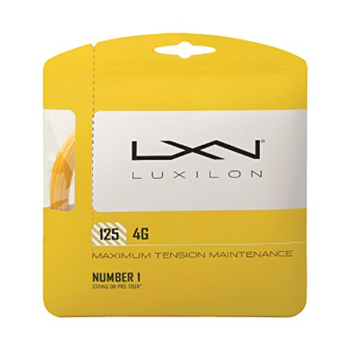 Luxilon Unisex Tennissaite 4G, gold, 12,2 Meter, 1,25 mm, WRZ997110