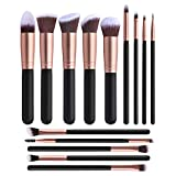 A Set of 14 Makeup Brushes, Eyeliner Eye Shadow Blusher Brush, Advanced Synthetic Foundation Makeup, No Shedding, No Odor, Easy to Stick Powder, for Beauty Makeup