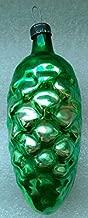 Green bump Original USSR Soviet Union Russian Christmas Tree Glass Ornament decoration
