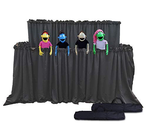 Classroom Puppet Stage XL - 2 Tier Portable Tripod Puppet Theater w/BAG | Stage, Ministry
