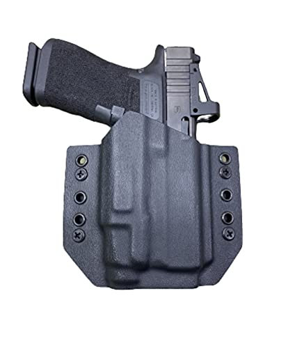 Black Kydex Holster Compatible with Glock 43x MOS Streamlight TLR-7 sub
