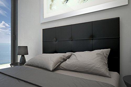 HOGAR24 Cabecero tapizado Versus 155x60. Negro