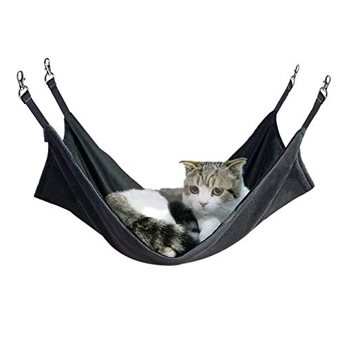I Love Pets 365 2 Pieces Pet Hammock Bed Comfortable Hanging Soft Sleepy Pad 2 Sides for Summer and...