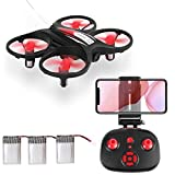 Mini Drone,AICase Mini Drone for Beginner, WiFi FPV RC Quadcopter with 720P HD Camera Altitude Hold Headless Mode 3D Flip Speed Switch 3 Batteries for Kids Gift