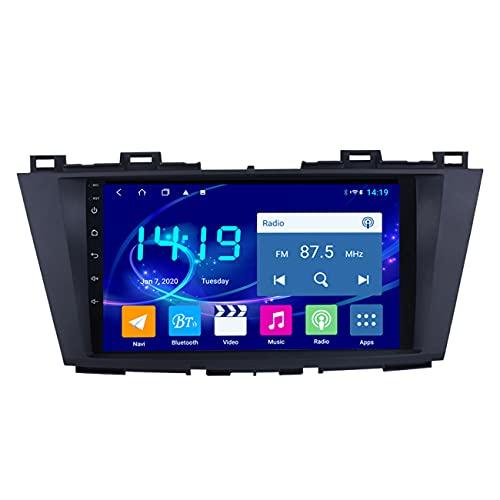 Radio de coche, Navegación GPS con reproductor de coche 4G + 64G para Mazda 5 2010-2015, radio multimedia estéreo para coche con Android 10 de 9 pulgadas, control original del volante