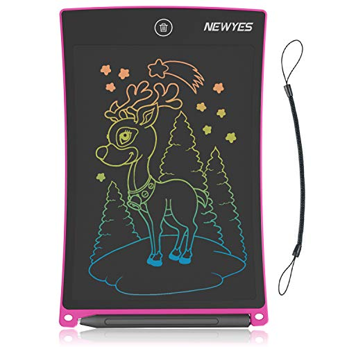 NEWYES Drawing Board , 8.5-Inch LCD Writing Tablet Colorful Screen Doodle Pad Scribble Board for Kids Aged 3+