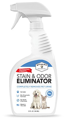 Stuart Pet Supply Co. Professional Strength Pet Stain and Odor Eliminator - Urine Odor Remover - Pet Urine Enzyme Cleaner - Enzymatic Cleaner for Dog Urine and Cat Urine - Pet Odor Eliminator