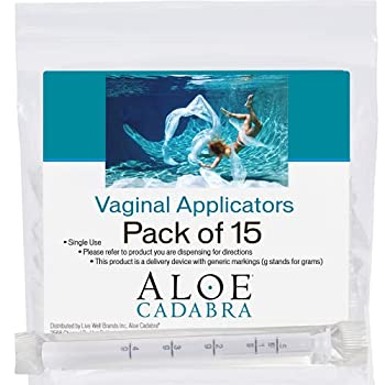 Extra Disposable Vaginal Applicators  15 pack  Individually Wrapped Fits Threaded Vaginal Creams and Contraceptive Gels