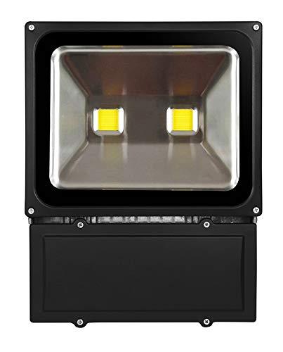 10W/20W/30W/50W/70W/100W/200W warmweiß mit schwarz Aluminium Gehäuse IP65 wasserdicht LED Lampe Squre Wandleuchter Fluter Flutbeleuchtung Flutlicht Scheinwerfer Außenstahler Leuchtmittel Energiesparend (100 Watt)
