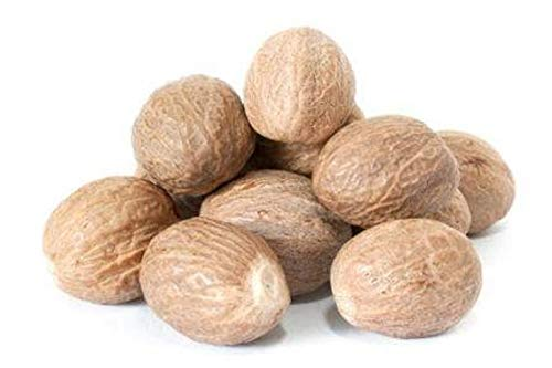 Organic Whole Nutmeg (3.5 oz), Premium Grade, Harvested & Packed from a USDA Certified Organic Farm in Sri Lanka (stand up resealable pouch)