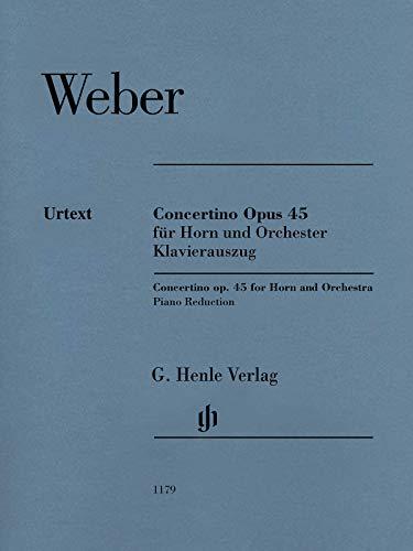 Concertino op. 45 für Horn und Orchester; Klavierauszug