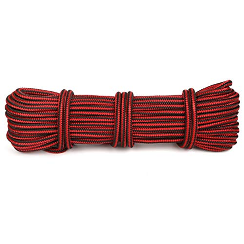 Rope RENJUN- Static Rock Climbing Ropeow 11.5mm in Diameter Polyamide Material High Temperature Resistance Resistance to Friction Knot Climb The Tree Red (Size : 20m)