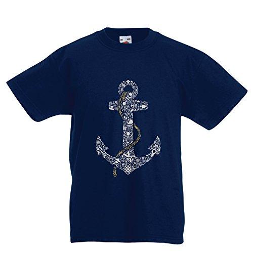 lepni.me Kids T-Shirt Zoute Zeeman Anker, Zee Marine Zeeman Shirt, Zeilen en Yachting Kleding