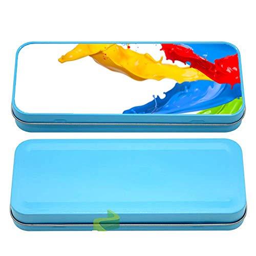 Générique Boite à Crayon éclats de Peinture - Bleu