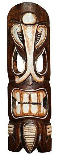 Schöne 50 cm Tiki Holz Maske Neuseeland Maori Wandmaske Handarbeit Bali Maske67