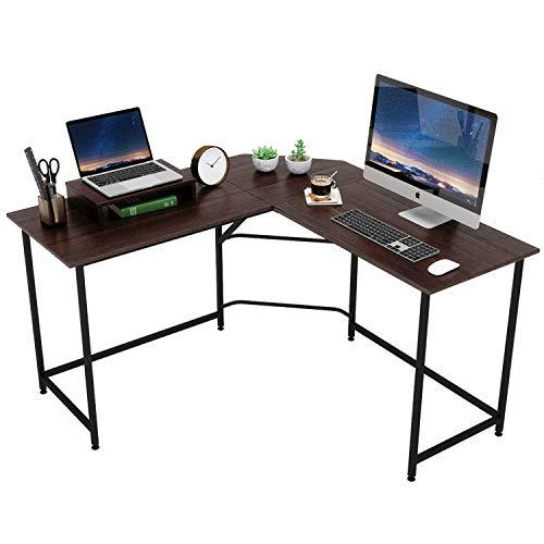 DOMYHOMEパソコンデスクL字デスクオフィスデスクPCデスクデスクL字型ワークデスクシンプルデスクL字型コーナーデスクゲーミング在宅勤務テレワーク(ウォルナット)