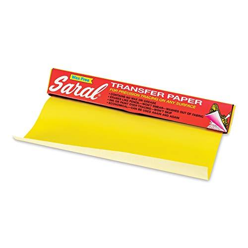 Gelbes Saral-Papier, wachsfrei, für präzises Nachzeichnen auf jeder Oberfläche, 30,5 cm x 3,6 m Rolle