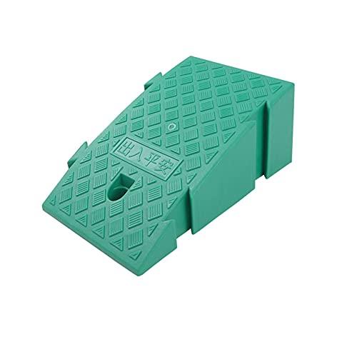 Paso De Plástico Rampa Multifuncional Cuesta Arriba Servicio De Almohadillas Rampas Rampas para Sillas De Ruedas Portátiles Antideslizantes(Size: 45 * 25 * 19CM,Color:Green)