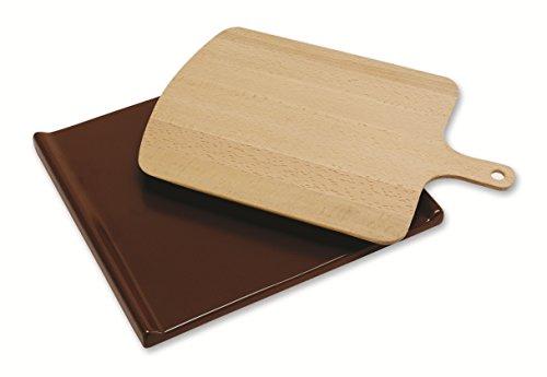 Beko 4480100033 Backofen- und Herdzubehör/Pizzastein/zum perfekten Backen von Pizza, Brot und Gebäck/beige/braun