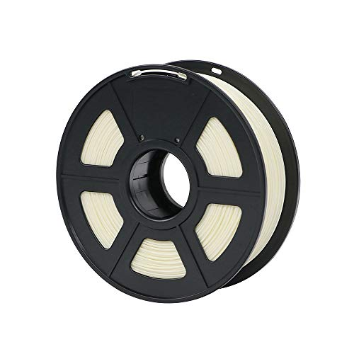 HUANRUOBAIHUO PLA Filament 1.75mm Plastic For 3D Printer 1kg/Roll 28 Colors Optional Rubber Consumables Material for Printing Printer supplies (Color : Ivory)