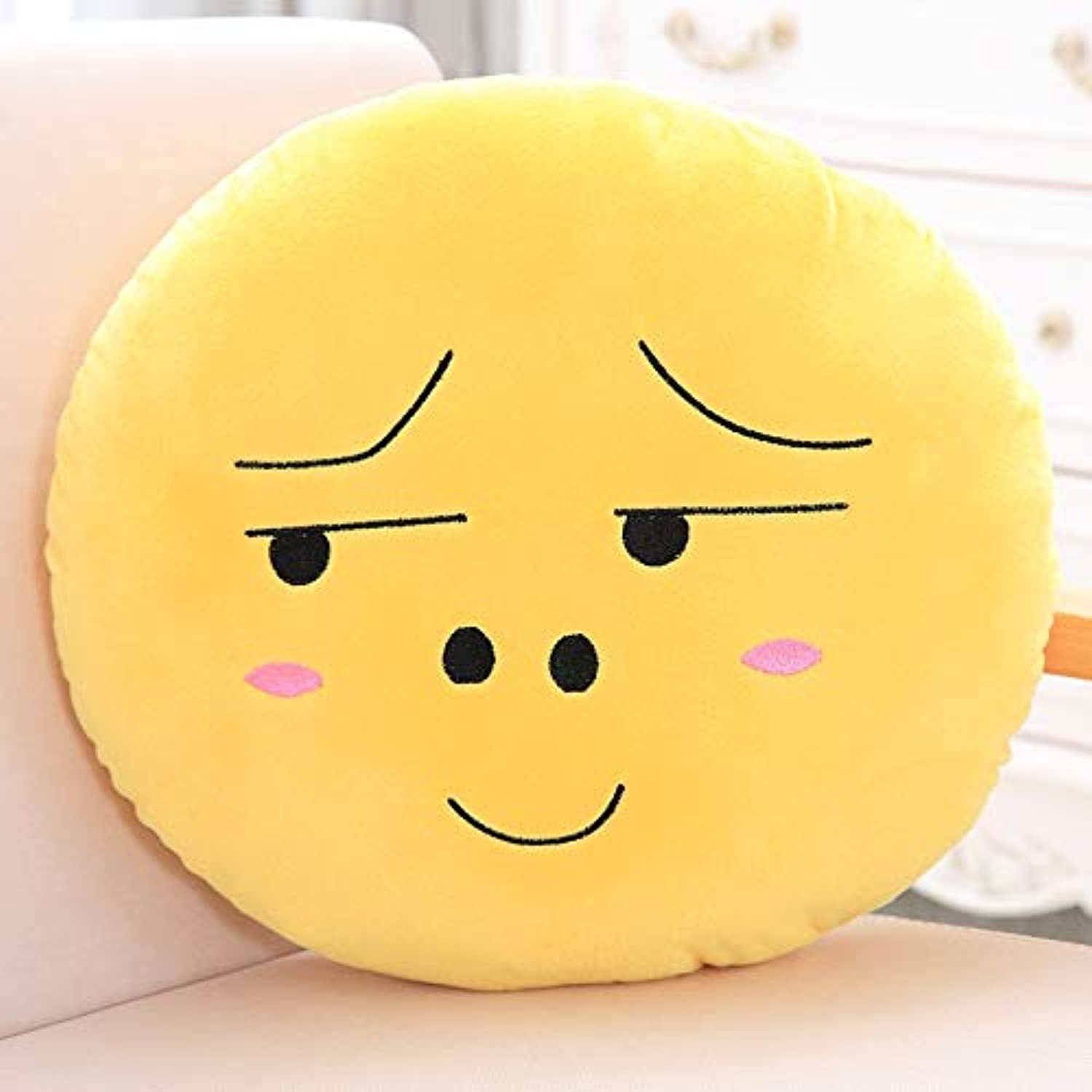 Mangege Emoticons Cartoon Pillow Quilt Dual Use Nap Three In One Blanket Funny Fear Face Cushion Pillow Large Blanket (11.6m) Base, look.