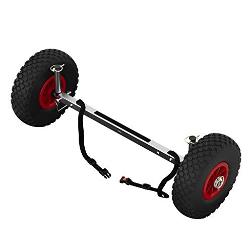 SUPROD Roues de Transport pour Sup, Stand Up Paddle Board, Chariot Wheels, UP260, Acier Inoxydable, Noir/Rouge