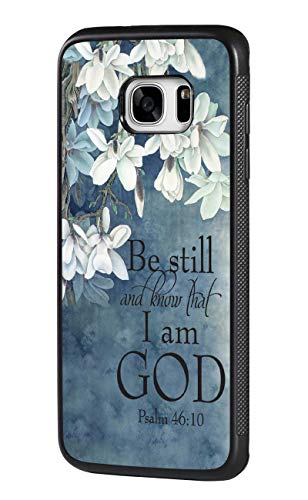 Galaxy S7 Case,Christian Quotes Bible Verse Psalm 46:10 Design Slim Impact Resistant Shock-Absorption Rubber Protective Case Cover for Samsung Galaxy S7