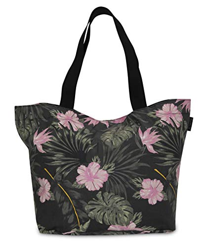 Hurley W Icon Printed Tote Sacs, Anthracite, FR Unique (Taille Fabricant : 1SIZE) Femme