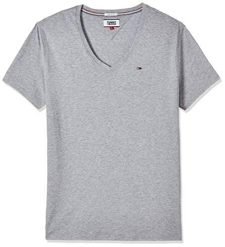 Tommy Jeans Herren Original Kurzarm T-Shirt Grau (Lt Grey Htr 038) XX-Large