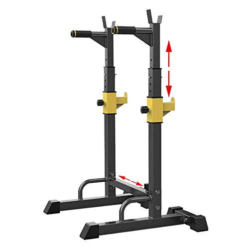 EEUK Squat Rack Ajustable Barbell Stands Heavy Duty Rack Bench Rack MusculacióN Soporte Sentadillas, Bench Press Rack Weight Rack para Gimnasio en Casa Ejercicio FíSico