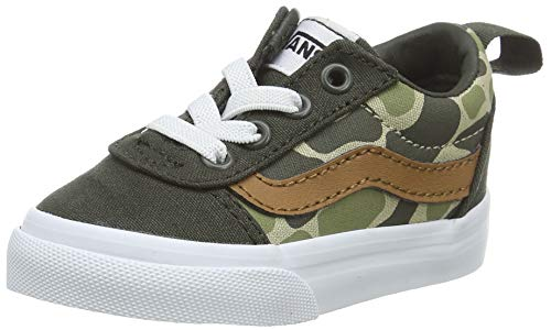 Vans Jungen Unisex Kinder Ward Slip-on Canvas Sneaker, Mehrfarbig Frosch Camo Forest Night White Wlz, 20 EU