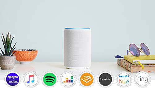 Amazon Echo (3ème génération), Enceinte connectée avec Alexa, Tissu sable