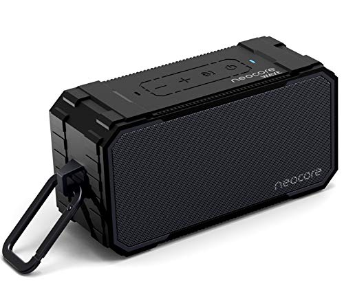 neocore WAVE A1 Portable Wireless Bluetooth Speaker, 24+ hour Play-time, SD Card Support, AUX, 10W Stereo Dual-Driver, Subwoofer Enhanced Bass, Waterproof