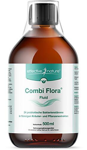 Combi Flora Fluid Zur Darmreinigung Von Effective Nature - Darmreinigungskur Mit 24 Bakterienstämmen Zur Unterstützung Und Aufbau Der Darmflora - 100{09b16e12f7919c44ae65452b86250bbb79ce8a2c76c7548eef048e9902dda67a} Natürliche Inhaltsstoffe - 500 ml