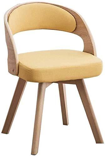 QZMX Silla Estilo Simple País de Comedor Lino de la Tela de tapicería Silla de café Silla de Oficina