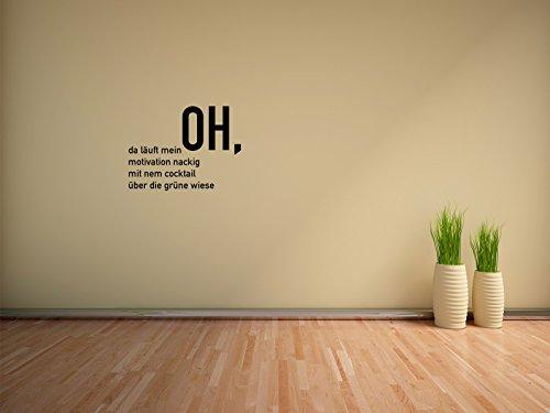 Comedy Wall Art OH, da läuft Meine Motivation. - Schwarz - ca. 80 x 60 cm