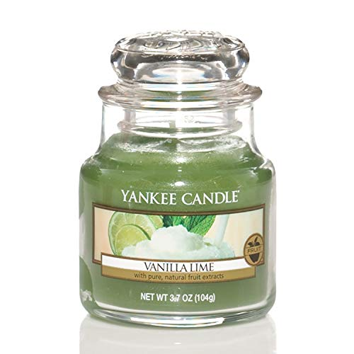 yankee candle tarts Yankee Candle Candela profumata in giara piccola   Calce alla vaniglia   Durata Fino a 30 Ore