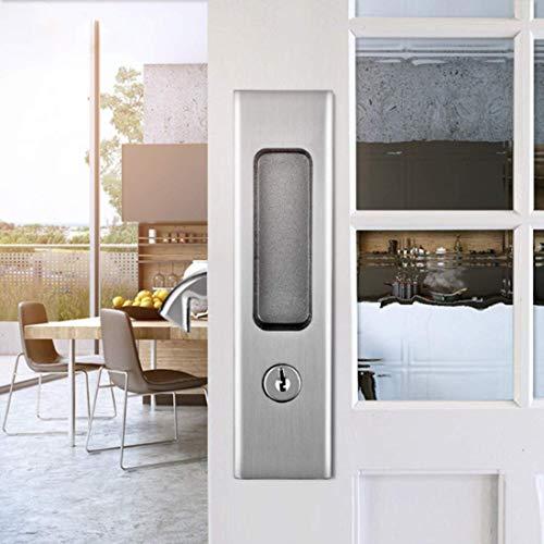 Palancas de la puerta de la puerta del pasaje Manija de la puerta para el pasillo y el armario de la puerta de entrada de la aleación de la aleación de la aleación de la aleación, el conjunto de bloqu