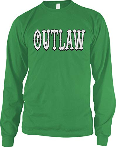 Amdesco Men's Outlaw Long Sleeve Shirt, Kelly Green XL