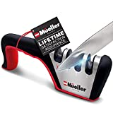 Mueller Original Premium Hunting Knife Sharpener, Heavy Duty 4-Stage Diamond Really Works for All Ceramic, Steel Knives and Scissors. Easily Restores from Dull to Sharp