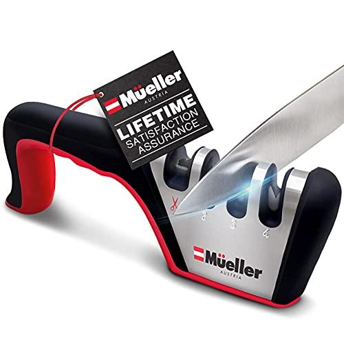 Mueller Original Premium Hunting Knife Sharpener, Heavy Duty 4-Stage Diamond Really Works for All...