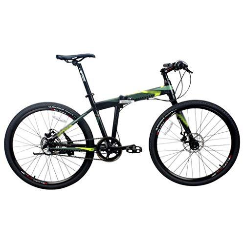 """Folding Bike, alluminio pieghevole Mountain bike Uomini Donne, 26"""" a velocità variabile 27 marce mountain bike, doppio ammortizzante parlato ruote Studente MTB Racing Strada / a terra / lavoro univers"""