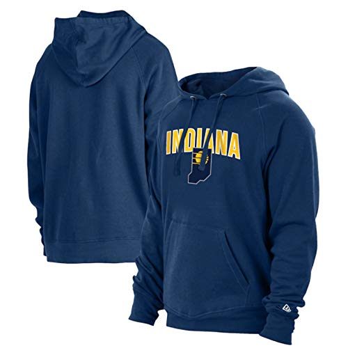 SHENXIAOMING NBA 2021 Phoenix Suns Indiana Pacers Logo Sweat Hood Sudadera con Capucha para Hombre, Camisetas De Baloncesto, Lavables A Máquina, Adecuadas para Deportes Al Aire Libre,Azul,S