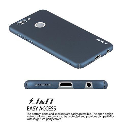 J&D Kompatibel für Huawei Nova 2 Plus Hülle, [Ultra Dünn] [Lightweight] erstklassige Matte schützende Hardcase für Huawei Nova 2 Plus - Dunkelblau - 5