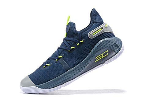Bazi Sport Men's UA Curry 6 Lightweight Basketball Sports Shoes 11 M US Deep Blue