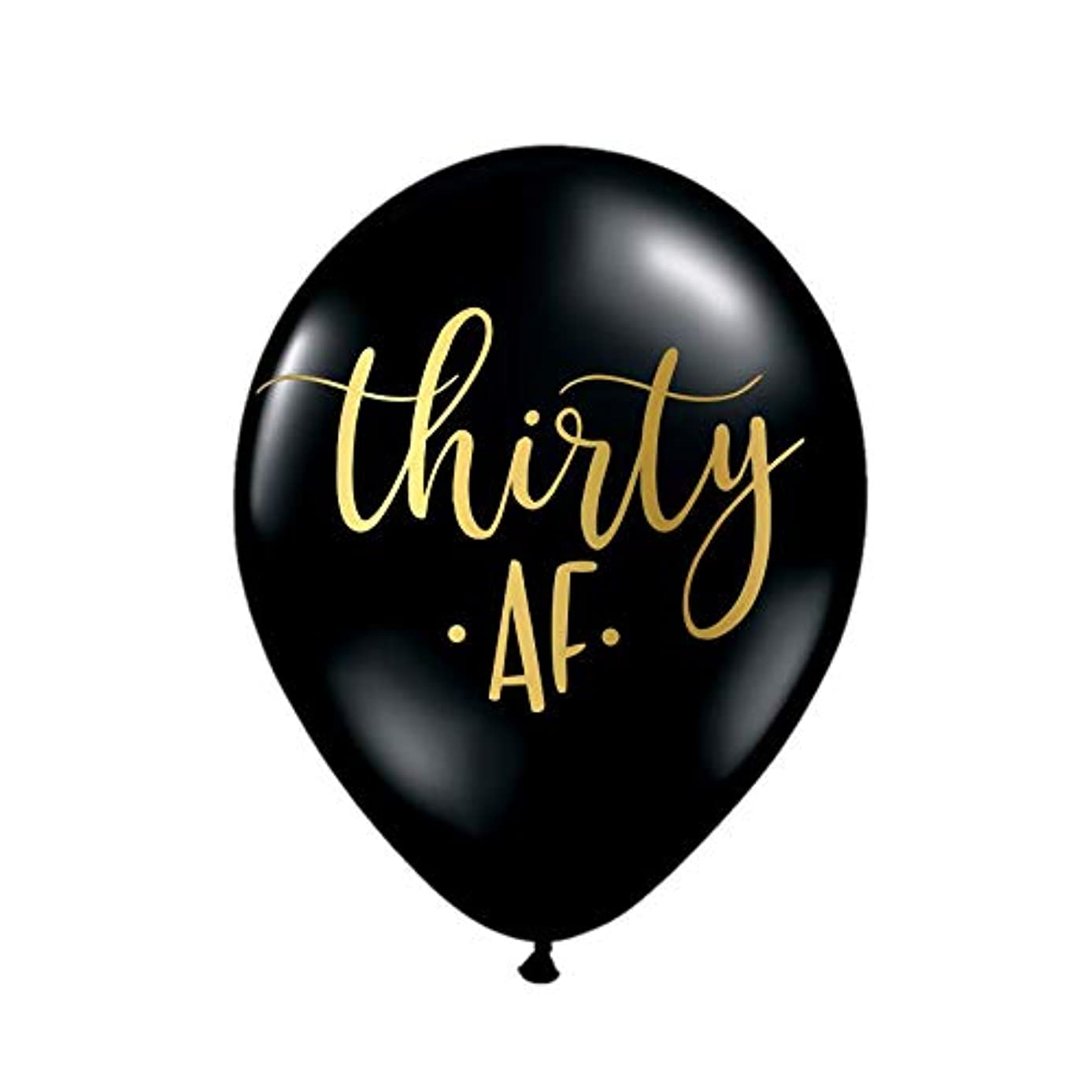 Cute Thirty AF 30th Birthday Party Balloons in Black and Gold, 30th Birthday Decorations, 30th Birthday, Funny 30th Balloons, Gag Gift for 30th Birthday, 30 AF, Thirty AF, Set of 3
