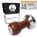 K&J Kitchen Barista Tamper - Präziser 51mm Stempel für Siebträger Kaffeemaschinen - Extra schwere...
