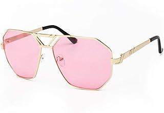YZCX - Gafas de Sol de Aviador para Mujer Gafas Planas para Hombre Marco de Metal único Retro para Hombre Unisex