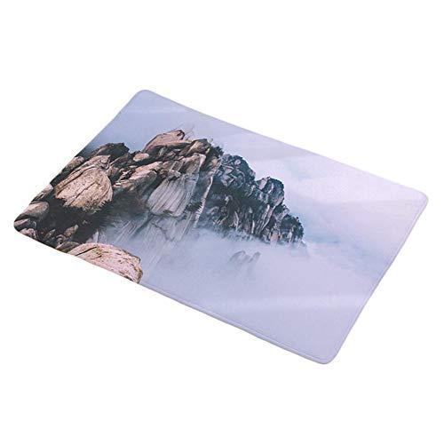 Dosige tapijt, voetmat, hout, sneeuwscène, antislip, stofdicht, absorberend, voor buiten, tapijt, badkamer, tapijt, wasmachine, hal, slaapkamer, woonkamer, 5, Lila