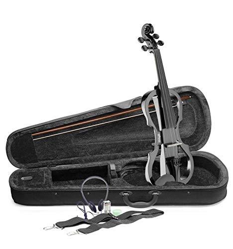 Stagg EVN X-4/4MBK tamaño completo violín eléctrico–Negro